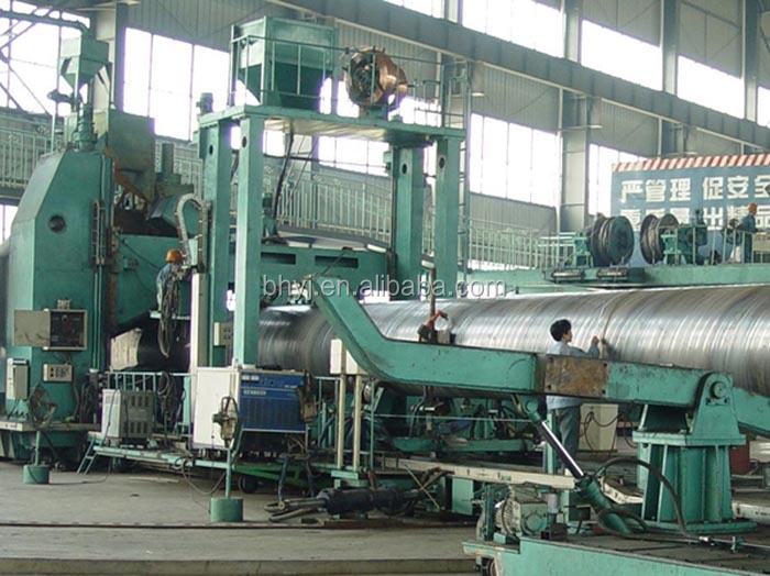 low carbon steel Spiral welded pipe production line