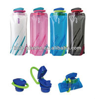 Promotion Gift 700ML/24oz PE+PET+PA strang shape foldable water bottle
