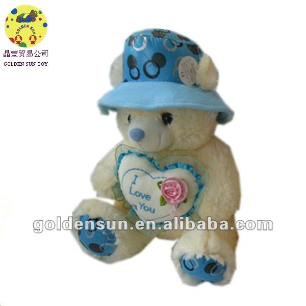 2012 new production cute stuffed love you bear toys