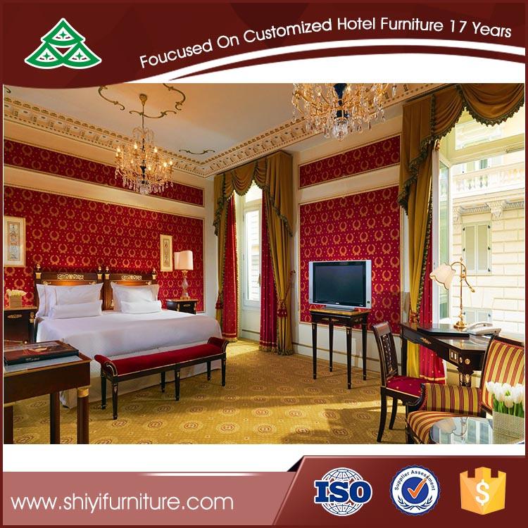 de alta calidad barato muebles del hotel con tallado en venta