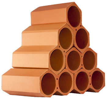 Spanish, terracotta, stackable single ceramic wine holders and bottle racks, made of clay