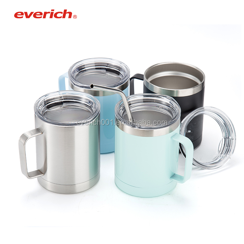 Everich 10oz Double Wall Stainless Steel Vacuum Insulated Mug with Lid