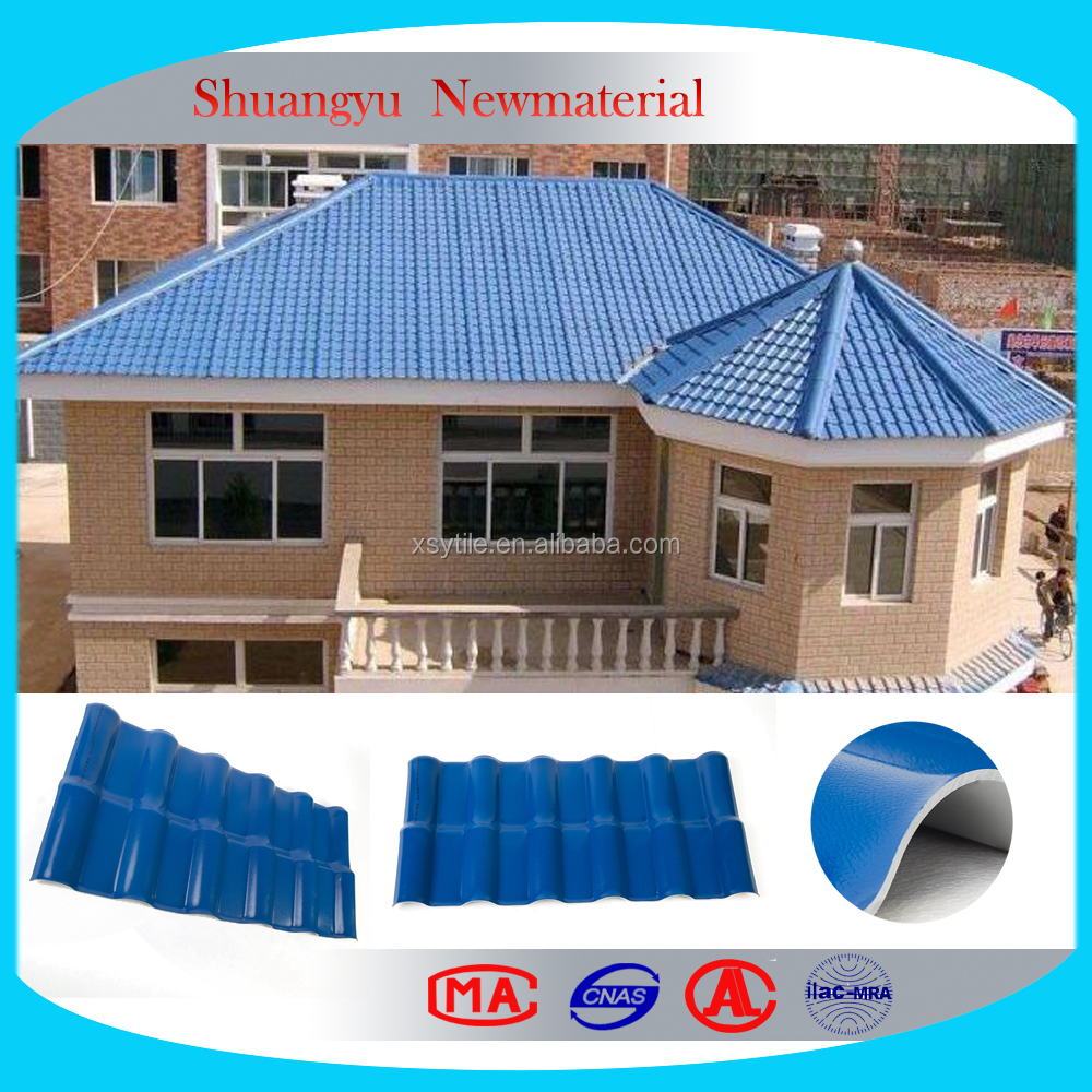 Shuangyu PVC roofing tile building material/Resin roof tile