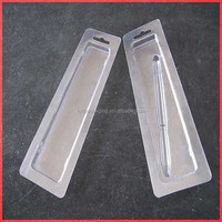 Clear pen blister boxes with tray