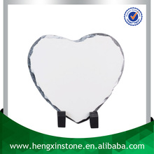 China Factory Direct Sales Cheap 15*15cm Polished Surface Heart Blank Sublimation Rock Slate Photo