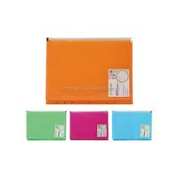 Wholesale clear pp expanding zipper file folder 7 holes spiral zipper folder