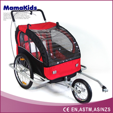 New Design bicycle kids trailer Alluminum alloy bike baby trailer with swivel front