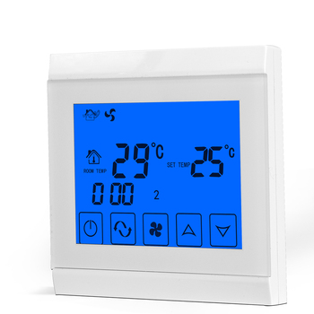 RS485 Network Function Touch Screen Airconditioning Rrogrammable Room Thermostat