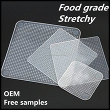 Best Eco Reusable Silicone Food Grade Stretch Fresh Cover Slim Food Wrap For Fruit Bowl