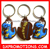 cheap custom keyring wholesale/rubber keyring/pvc keyring
