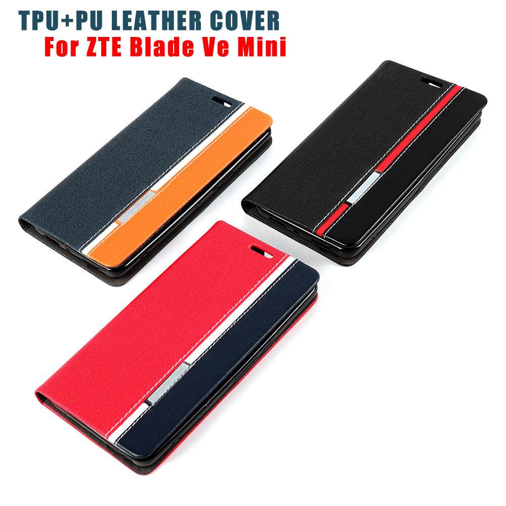 PU Leather Flip Phone Case For ZTE Blade V8 Mini Mobile Phone Cover