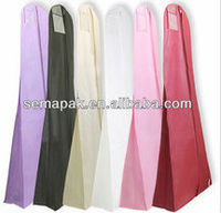 Standardable coloful non woven reusable dress dustproof bag