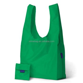 Recycled foldable polyester bag