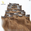 High Quality Product Wholesale Price 230G Clips On Set Remy Hair Extensions