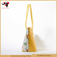 Samall MOQ Wholesale Sale Designer Printed Woman PU Leather Handbag