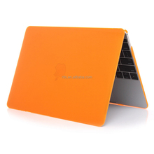 For Macbook Case 12 Inch, Glossy Crystal Orange Hard Shell Cover for Laptop 12 Retina A1534