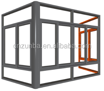 China estate collection windows &doors Aluminum horizontal sliding window with glazed glass