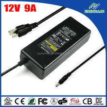 12V 9A Power Supply DC 12V Adapter For LCD TFT Monitor Output 108W