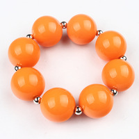 Orange Acrylic Ball Beads Child Kids Bracelet Jewelry Wholesale