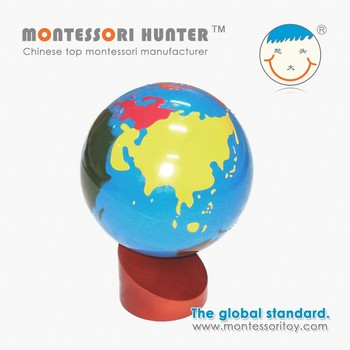 Montessori globe of the continents for School Educational equipment