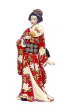 personalized handmade color painted decorative japanese geisha dolls