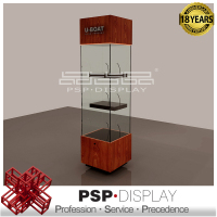 PSP-DISPLAY High end customized design glass watch display cabinet, watch shop decoration
