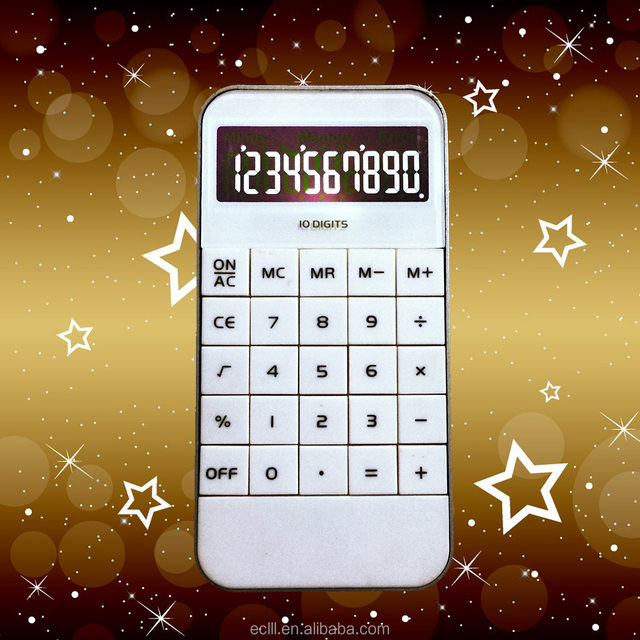 Fashion style 10 digits button cell battery calculator wtih backlight