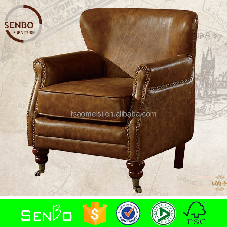 2015 latest leather chair / leather club chair / pedicure chair leather cover