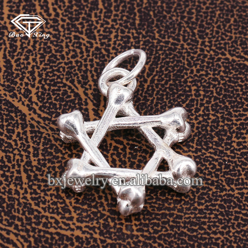 New hot selling products wholesale customized thai silver eastern star pendants