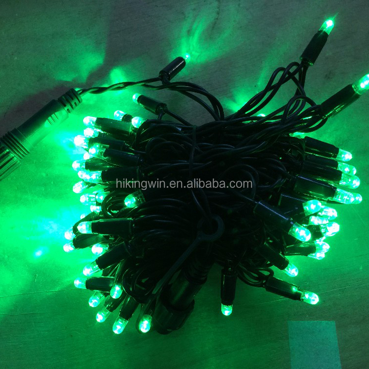 31V 50m outdoor multi-color holiday decoration led christmas string light at 100Leds 10m 9w connectable