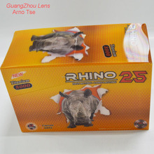 Super 3D Display Boxes of RHINO 25 for Sex Pills to Male Enhancement - RHINO Pills Packaging