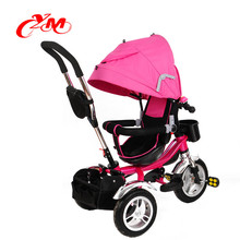 Push pink baby tricycle pictures/plastic Steel child tricycle three wheeler/popular children three wheel bike kids trike baby