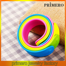 PRIMERO NEW Silicone Snap Slap On Rubber Slogan Bracelet Bangle Silicone Rubber Wristband Slap On Bracelet belize bangle