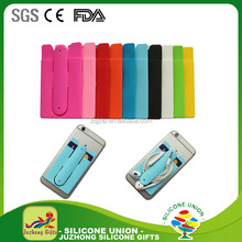 Silicone Cell Phone Card Holder With Stand