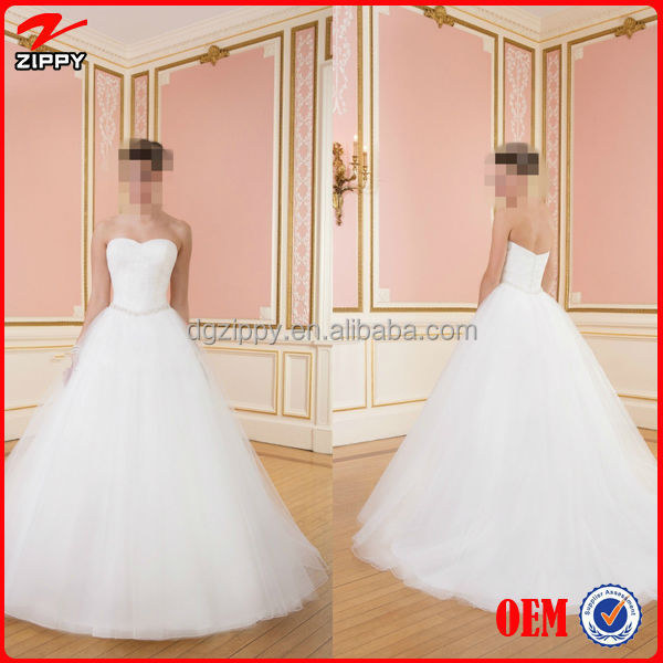 China Wedding Dresses Gown Pretty Sweetheart A Line White Organza Beading Best Favore Vestidos De Noiva Weding Dress 2014