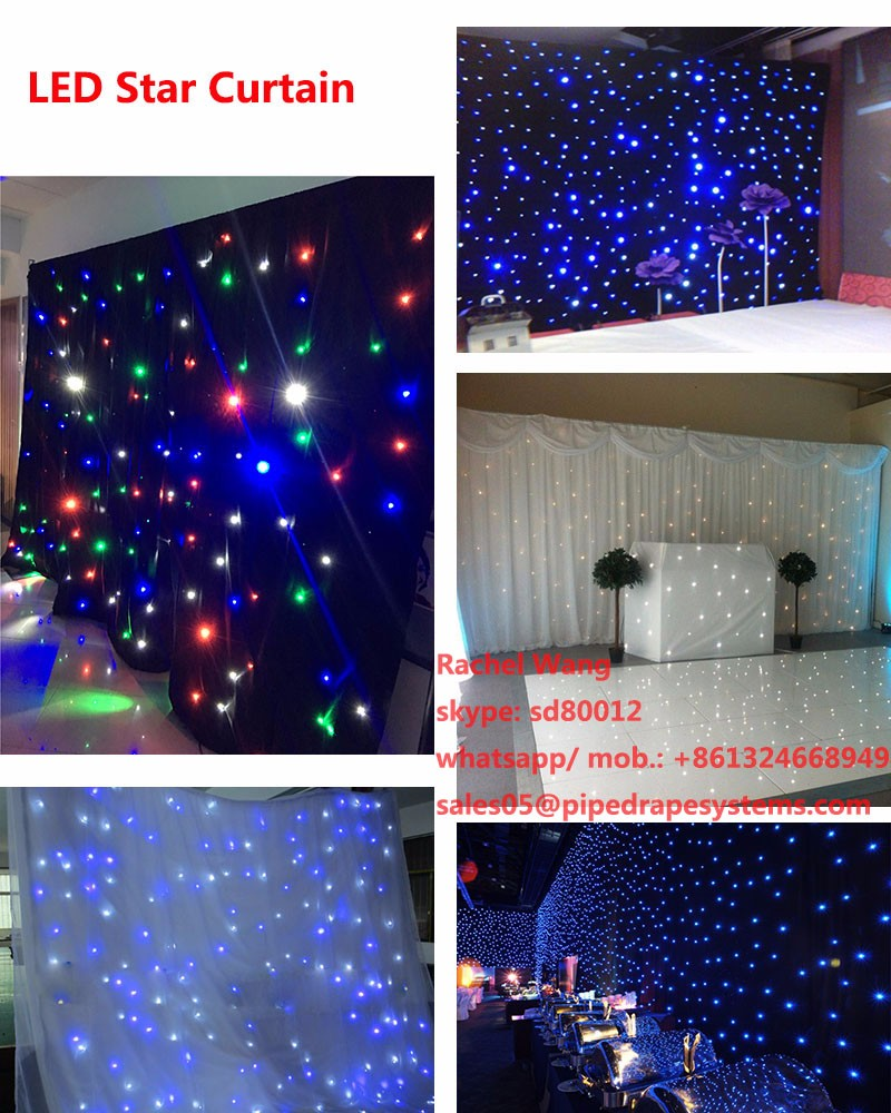High quality led star curtain lights custom size backdrop for event