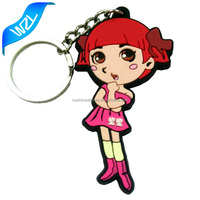 Customized cheap PVC 3D logo keychains