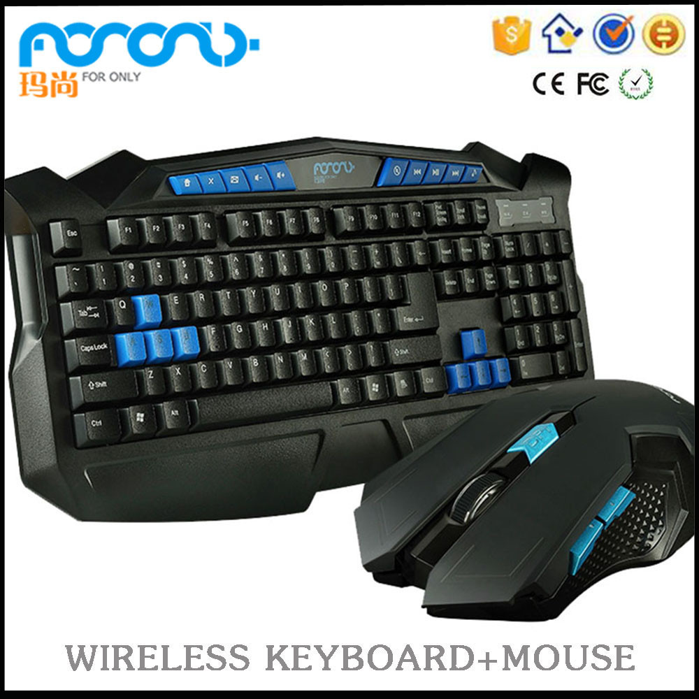 Foronly Cordless mause teclado inalambricos 2.4G wireless optical game keyboard mouse combo