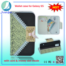 Popular custom leather cellphone accessories case for samsung galaxy s5