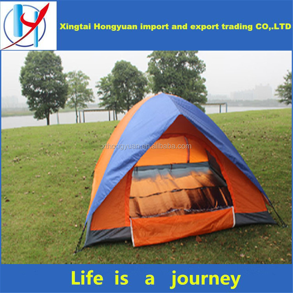 Outdoor product PVC coated waterproof double/single layer camping tent waterproof camping tube tent
