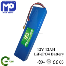12v 12ah Lifepo4 Battery Pack With PCM Protection lithium Lifeo4 Battery