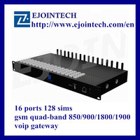 Ejoin 16ports 128nippon remote control home automation goip voip gsm equipment for zigbee gateway