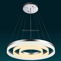 Suspended Round circle light LED Ring Lamp Color change pendant clear acrylic chandelier lighting