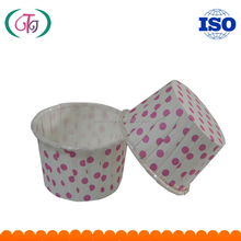 Red Polka Dots Printed Paper Cupcake Liners SGS certificated Baking Cup for cakes