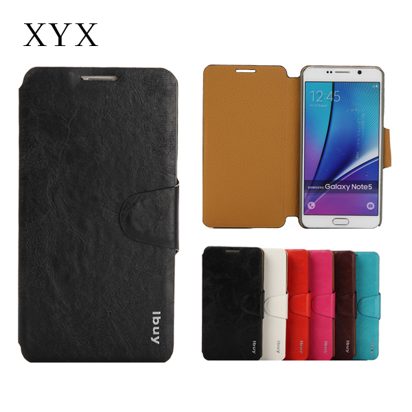best selling custom android mobile phone leather case for samsung note 5 phone galaxy