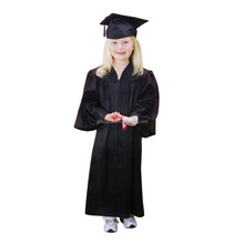 Custom made Adorable children's graduation gown black kindergarten kids Graduation cap and gown