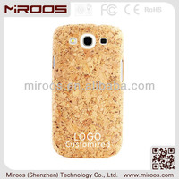 custom Cork fabric phone cases for samsung galaxy s3, for samsung s3 cases leather cork
