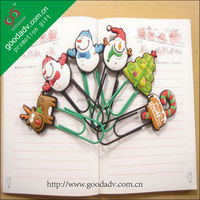 High Performance Cartoon beautiful metal paper clip bookmark