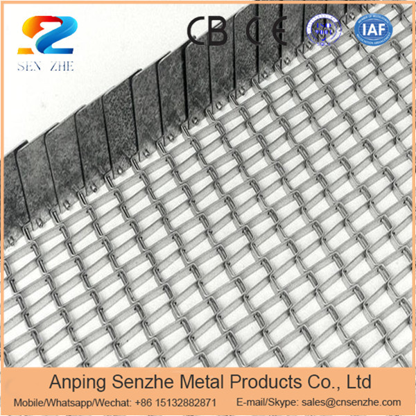 Light type stainless steel wire mesh food conveyor belt for vaccum furnace