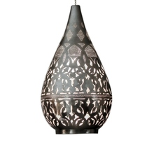 Exquisitely Crafted Silver Plated Moroccan Brass Hanging Lamp